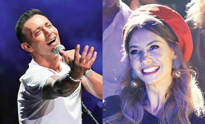 Mustafa Sandal'ın konserinde eski sevgili Tuba Ünsal sürprizi