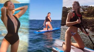 Chloe Loughnan'ın sörf macerası olaylı bitti!