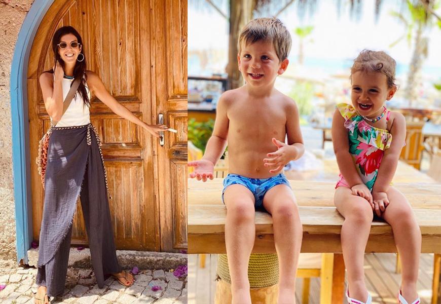Ilgın Dalan çocuklarıyla tatile çıktı