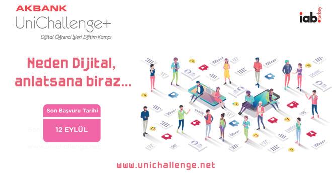 Akbank UniChallenge+ Dijital Öğrenci İşleri Eğitim Kampı Başlıyor