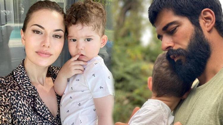 Burak Özçivit oğlu Karan ile poz verdi
