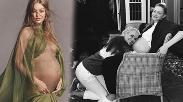 Gigi Hadid'den 'doğum yaptı' iddialarına fotoğraflı yanıt!