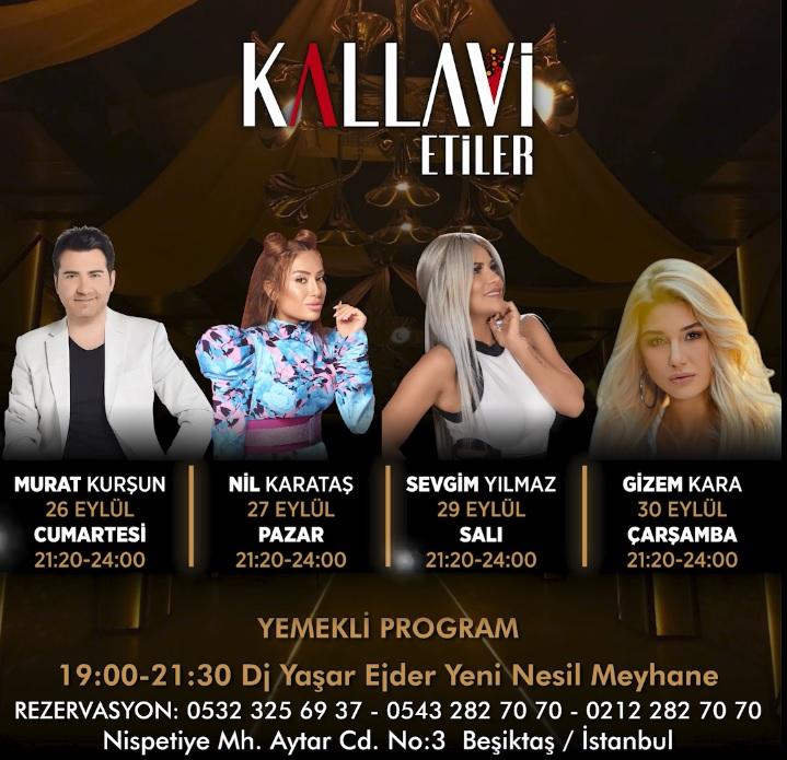 Kallavi Etiler'de 26 Eylül'de Murat Kurşun sahnesiyle açılıyor