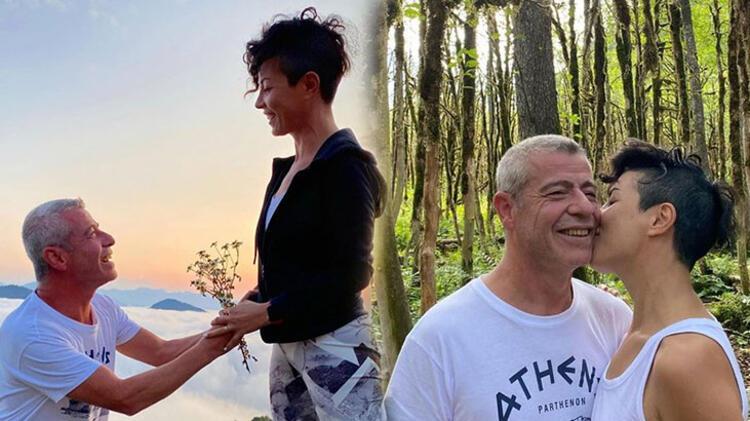 Levent Yüksel ile eşi Özlem Öztürk'ten aşk pozu