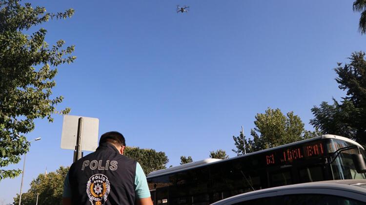 Maske takmayanlar 'drone'dan kaçamadı