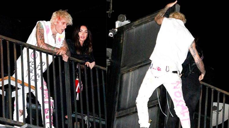 Megan Fox ve rapçi sevgilisi çatıya çıktı