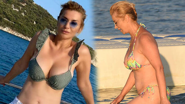 Songül Karlı bikinisiyle poz verdi