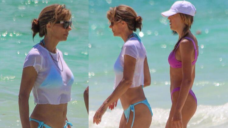 Sylvester Stallone ve eşi Jennifer Flavin aile tatilinde