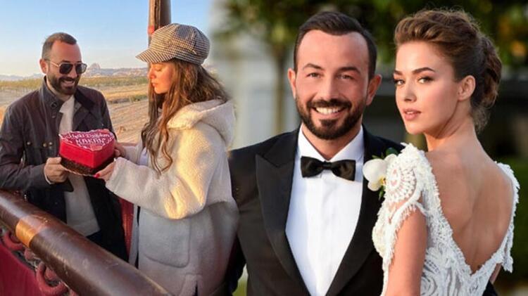 Bensu Soral'dan eşi Hakan Baş'a sürpriz kutlama