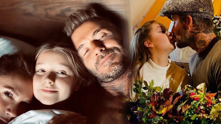 David Beckham'ın kızını öptüğü fotoğraf tartışma konusu oldu