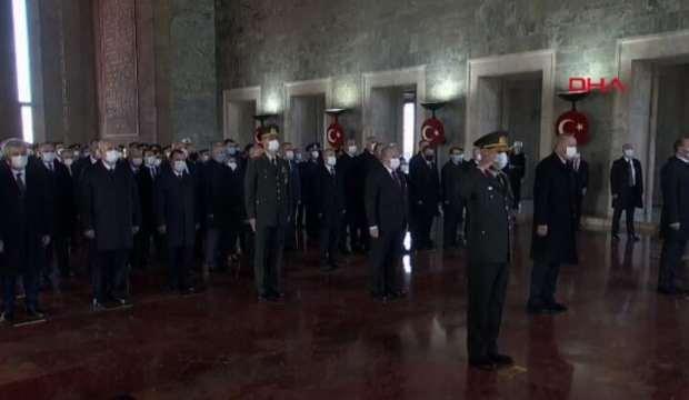 Atatürk'ün aramızdan ayrılışının 82. yılı… Devletin zirvesi Anıtkabir'de