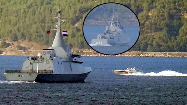 Mısır savaş gemileri, Çanakkale Boğazı'ndan geçti