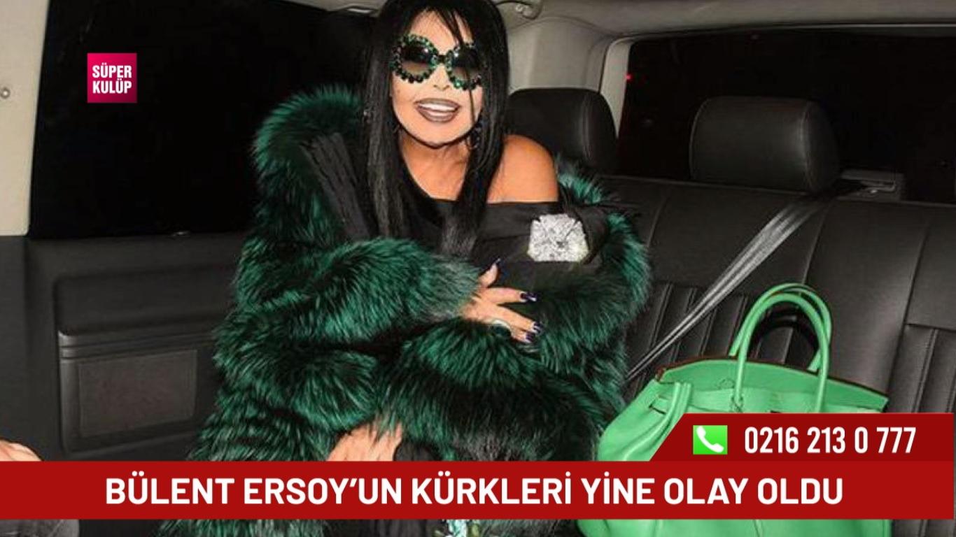 Diva Bülent Ersoy'un kürkleri yine olay oldu
