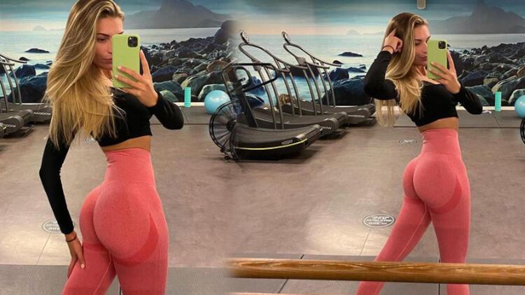 Zara McDermott'un spor salonu pozu dikkat çekti