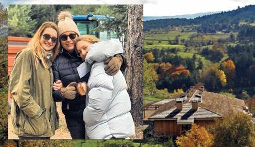 Caroline Koç, kızlarını alıp dağa çıktı