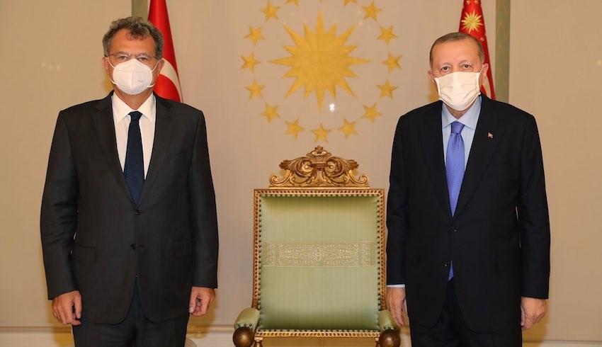 Cumhurbaşkanı Erdoğan, Patronlar Kulübü'nün başkanını kabul etti