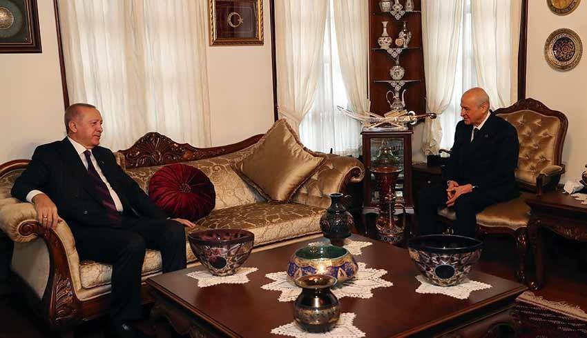 Erdoğan'dan Bahçeli'ye ikinci ev ziyareti! Bahçeli kapıda karşıladı