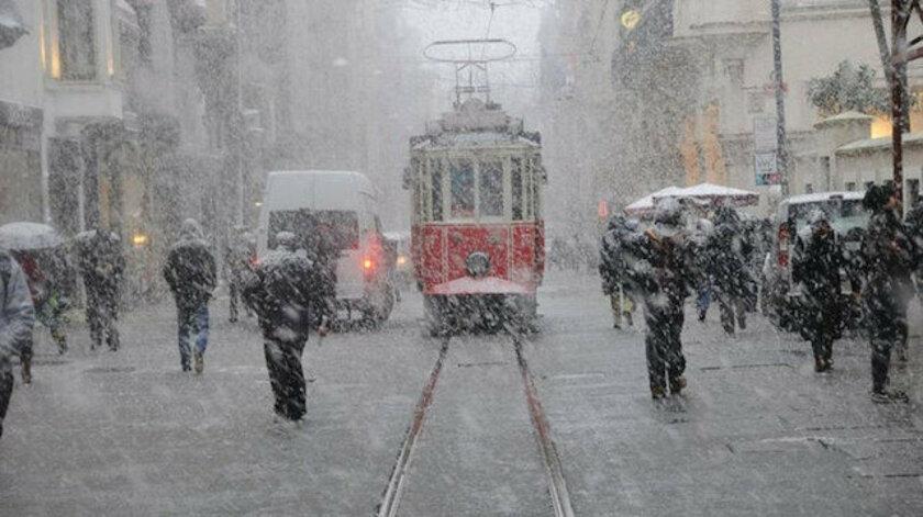 İstanbul'da kar yağışı başladı! Meteoroloji'den uyarı