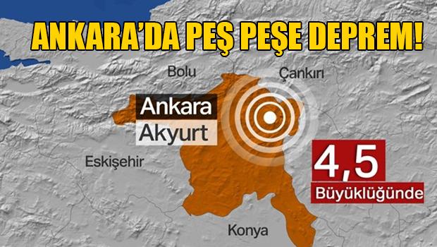 Ankara'nın Kalecik ilçesinde 4.5 büyüklüğünde deprem