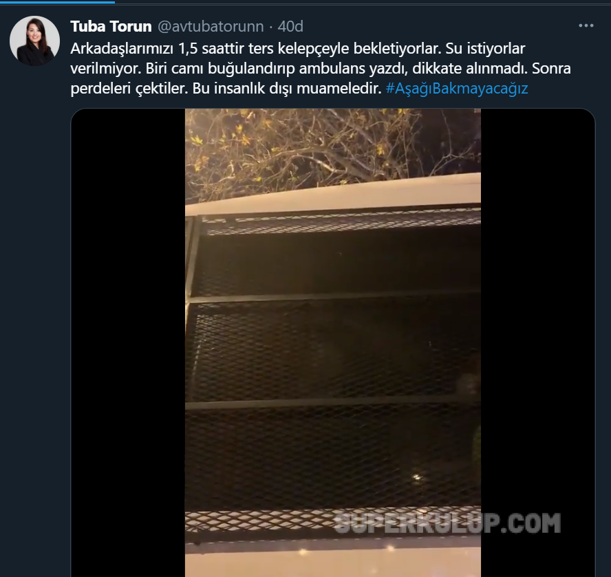Tuba Torun tweet - Kadıköy'de biber gazlı, plastik mermili müdahale!