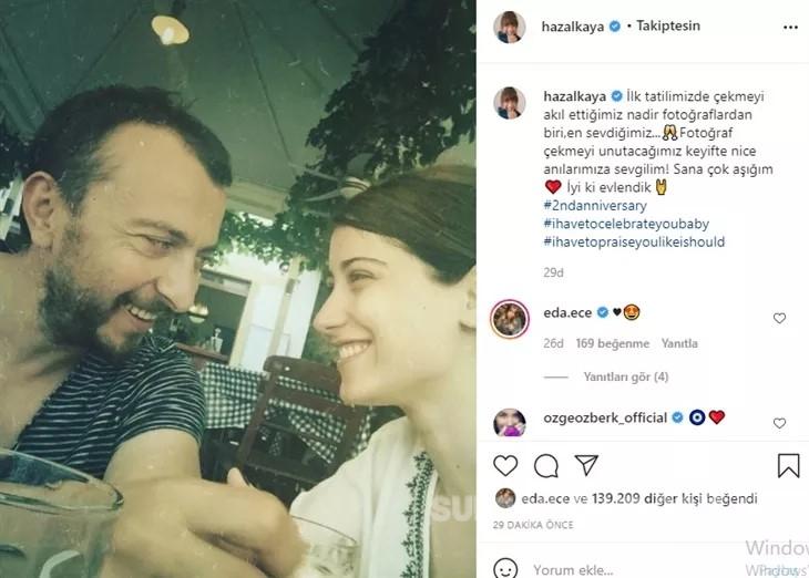"""hazal kaya ali atay paylasim iyi ki - Hazal Kaya'dan Ali Atay'a romantik paylaşım: """"Sana çok aşığım!"""""""